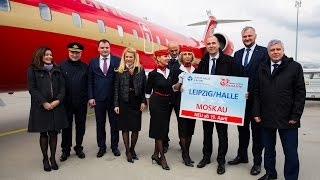 Авиакомпания Руслайн открыла новое воздушное сообщение Лейпциг – Москва Домодедово