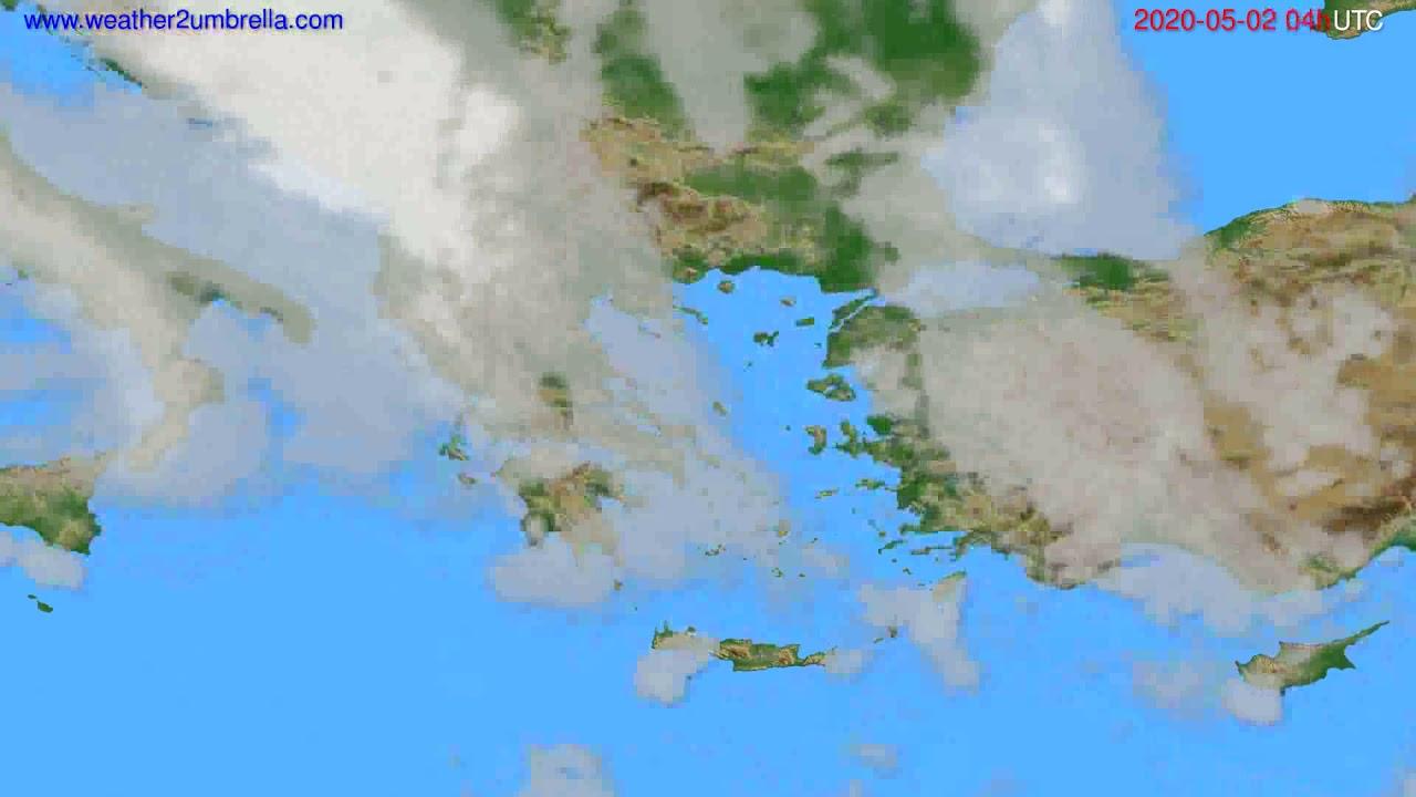 Cloud forecast Greece // modelrun: 12h UTC 2020-05-01