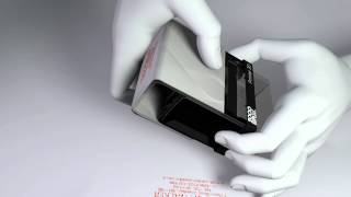 How to replace an ink pad on a 2000 Plus Printer Self-inking Stamp