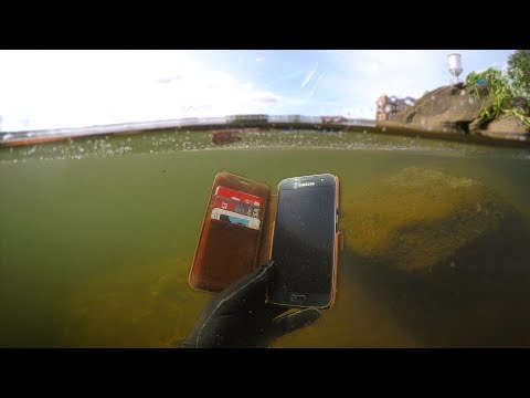 Found Phone, Wallet, Knife Underwater in River! (Scuba Diving) | DALLMYD