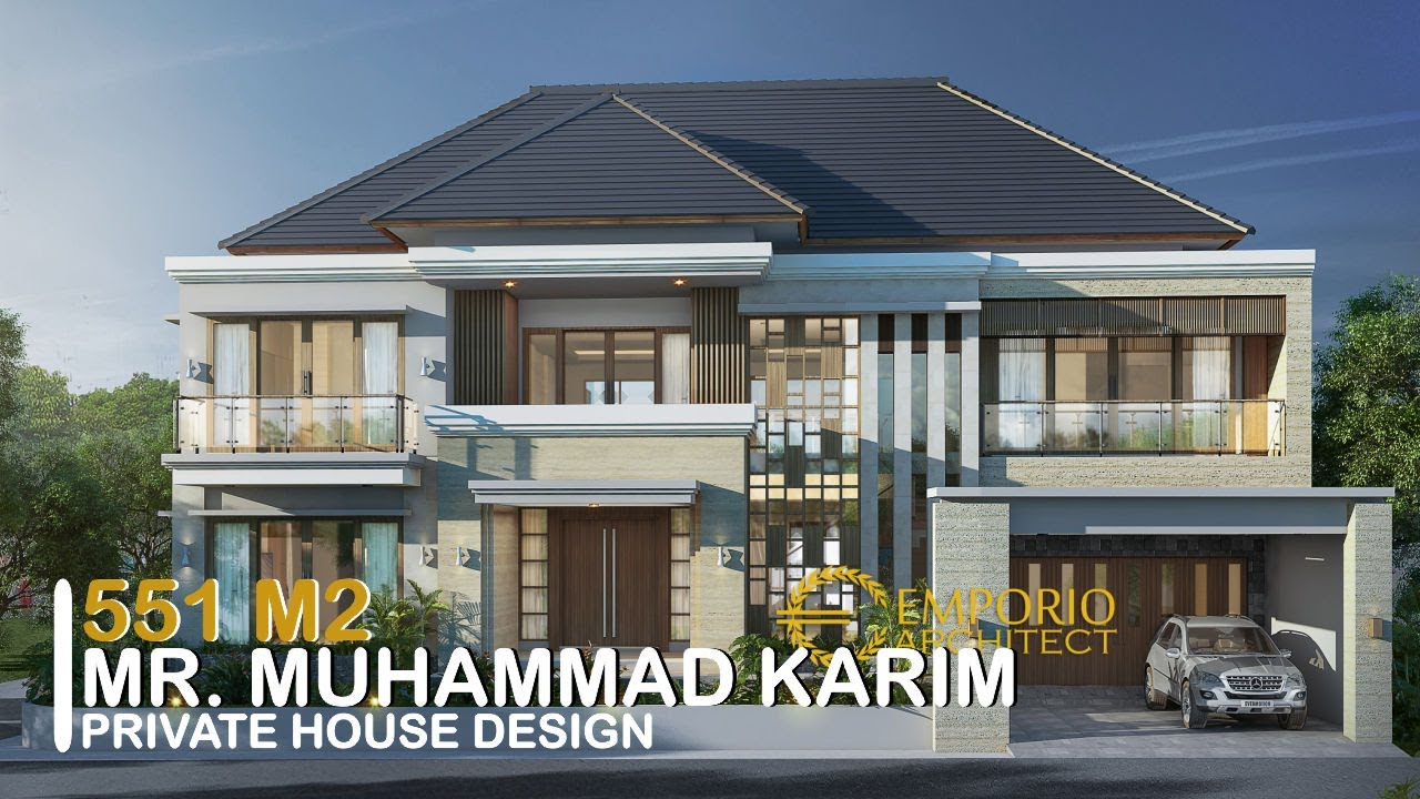 Video 3D Desain Rumah Villa Bali 2 Lantai Bapak Muhammad Karim di Yogyakarta