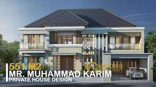 Video Desain Rumah Villa Bali 2 Lantai Bapak Muhammad Karim di  Yogyakarta