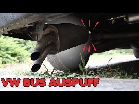 AUSPUFF ABGEBROCHEN - WAS NUN? | VW T4 Bus Reparatur