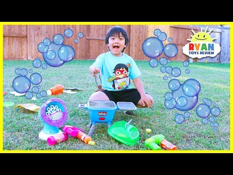 Bubble Machine Toys for kids Pretend Play Grill!