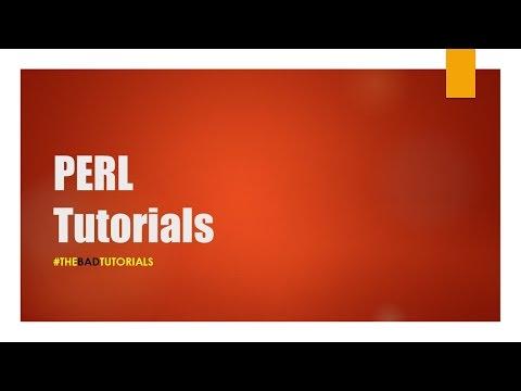 Perl Tutorial – 5: Arrays