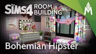 The Sims 4 Room Building - Bohemian Hipster Bedroom