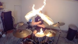 Burn   Drum Cover With Fire Sticks   Ellie Goulding   Drumming With Fire (Brit Awards 2014 Song)
