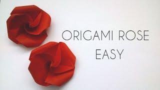 Origami Rose Easy - Origami Tutorial