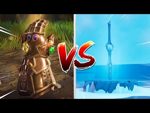 INFINITY BLADE VS INFINITY GAUNTLET!! (Who Wins?) Fortnite Battle Royale