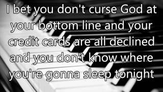 Christina Grimmie - I Bet You Don't Curse God - HD Lyrics - NO PITCH