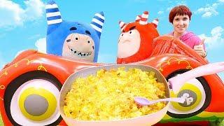 Видео для детей. Маша Капуки и Оддбодики готовят яичницу