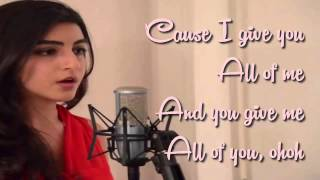 Luciana Zogbi   All Of Me By John Legend ( Cover. Luciana Zogbi +Lyrics)