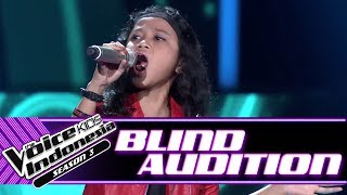 Qyra - The Spirit Carries On | Blind Auditions | The Voice Kids Indonesia Season 3 GTV 2018