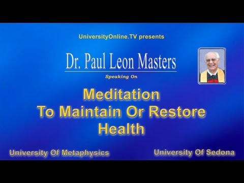 Mediation To Maintain Or Restore Health