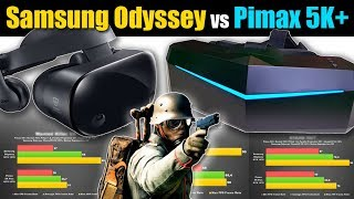VR Game Benchmark: Samsung Odyssey vs Pimax 5K+ FPS Performance  Side-by-Side