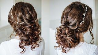 Easy Romantic Wedding Hairstyle For Long Medium Hair / Easy Loose Bun Updo