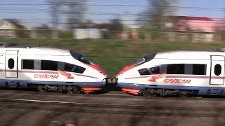 """Высокоскоростной поезд  """"Сапсан""""  Москва — Санкт-Петербург"""