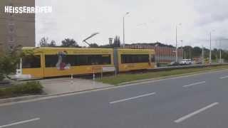 preview picture of video 'Straßenbahn in Plauen / Vogtland - Tram de Plauen - Tramway of Plauen'