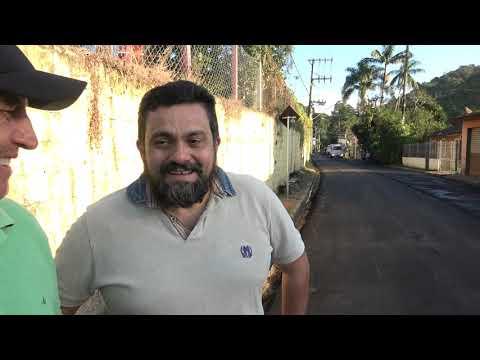 Vereador Marlos agradece o Prefeito Ayres Scorsatto pela pavimentação na estrada da Senhorinhas