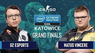 CS:GO - G2 Esports vs. Natus Vincere [Dust2] Map 2 - Grand Finals - IEM Katowice 2020