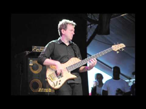 Tom Kennedy plays a bass solo with Mike Stern at The Stockholm Jazz Fest