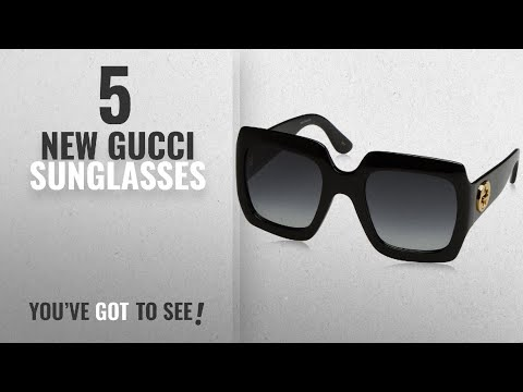 Top 10 Gucci Sunglasses [ Winter 2018 ]: Gucci 54MM Oversized Square Sunglasses