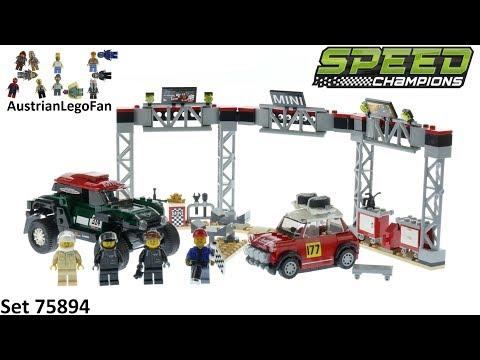 Vidéo LEGO Speed Champions 75894 : Mini Cooper S Rally 1967 et Mini John Cooper Works Buggy 2018