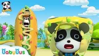 【New】Baby Panda is Attacked by Crazy Food Machine | Magical Chinese Characters | BabyBus