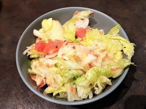 Летний, лёгкий салат с грейпфрутом !!!