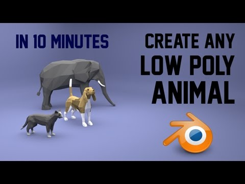 Create any low poly animal | Blender | 10 mins