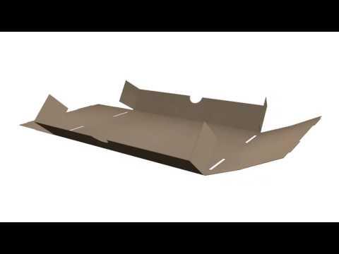 Jak složit papírovou krabici dno + víko?