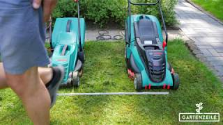 Bosch Rasenmäher: Elektro vs.  Akku - Für wen ist welcher besser geeignet?