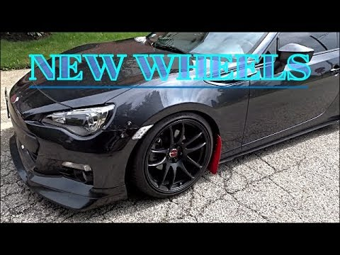NEW WHEELS FOR MY SUBARU BRZ! (Really Clean)