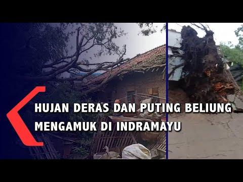 Hujan Lebat Dan Puting Beliung Ngamuk Di Indramayu