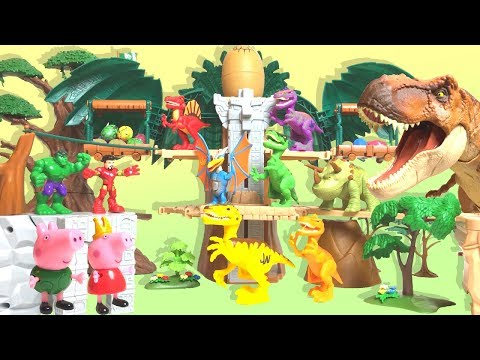 【Peppa Pig】 Time to travel to the age of dinosaur Iron Man Hulk Episode1