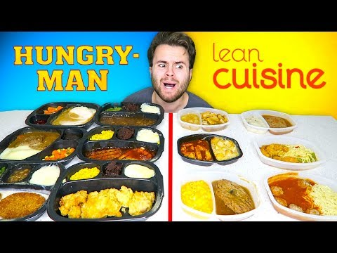 HUNGRY-MAN vs. LEAN CUISINE! – Frozen Dinners Taste Test!