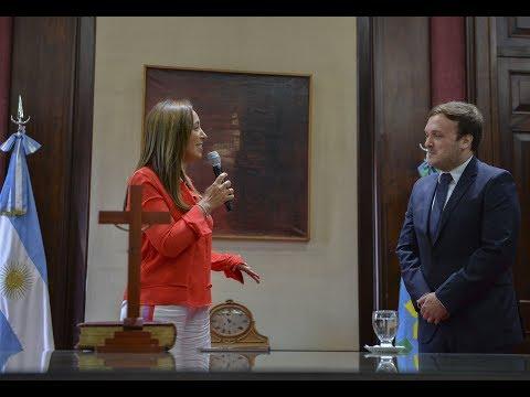 La Gobernadora tomó juramente al nuevo secretario de Legal y Técnica de la Provincia