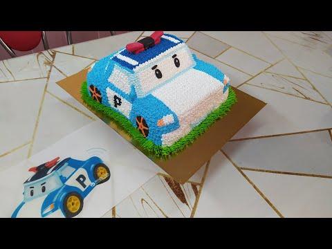Как приготовить детский торт Робокар Поли