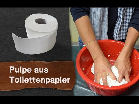 Pappmaché aus Klopapier - Einfach und schnell