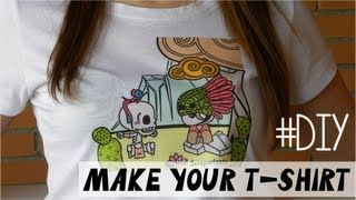 DIY Make your own t-shirt  - Diseña tu camiseta