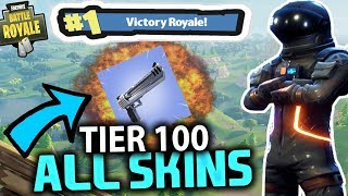 TIER 100 ALL SKINS #1 VICTORY ROYALE | FORTNITE BATTLE ROYALE