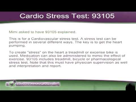 Medical Coding Help: Cardio Stress Test CPT Code 93015 - YouTube