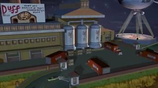The Simpsons. Level 6 - завершающий ролик. Пришельцы вышли из подполья