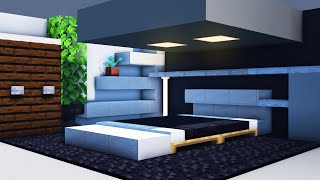 How To Build A Modern Bedroom In Minecraft - Modern House Tutorial #5