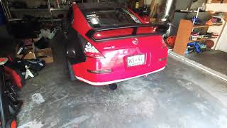 Bumper cut on my boosted 350z