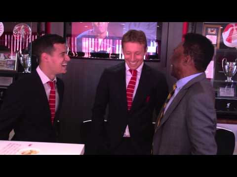 Pele visits Anfield