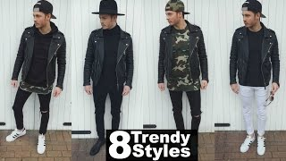Mens Fashion 2020 Street Style | How To Style A Leather Jacket - Lookbook Spring