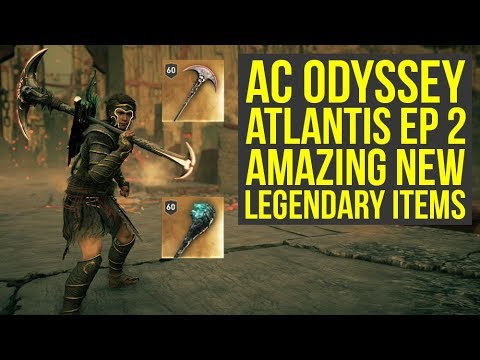Assassin's Creed Odyssey Atlantis DLC ALL NEW WEAPONS In Depth Look (AC Odyssey Atlantis DLC)