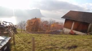 スイス発  リギ列車からの風景【スイス情報.com】