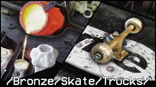 Foundry: Cast Bronze Skate Trucks + Wheels, fully functioning
